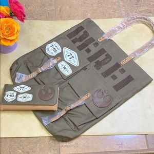 NWT Loungefly Star Wars Rebel Tote Bag & Wallet